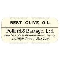 Best Olive Oil Miniature Apothecary Label