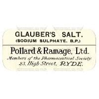 Glaubers Salt Miniature Apothecary Label