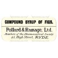 Compound Syrup Of Figs Miniature Apothecary Label
