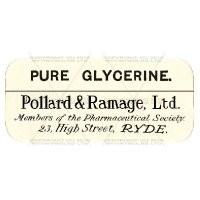 Pure Glycerine Miniature Apothecary Label