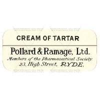 Cream Of Tartar Miniature Apothecary Label