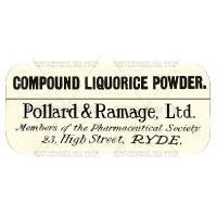 Compound Licorice Powder Miniature Apothecary Label