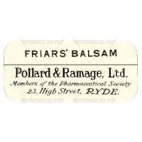 Friars Balsam Miniature Apothecary Label