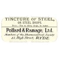 Tincture Of Steel Miniature Apothecary Label