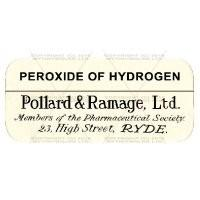 Peroxide Of Hydrogen Miniature Apothecary Label