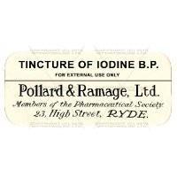Tincture Of Iodine B.P. Miniature Apothecary Label