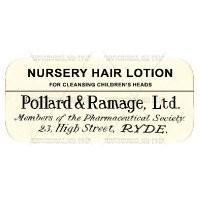 Nursery Hair Lotion Miniature Apothecary Label