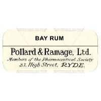 Bay Rum Miniature Apothecary Label