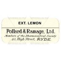 EXT. Lemon Miniature Apothecary Label
