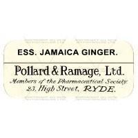 Ess. Jamaica Ginger Miniature Apothecary Label