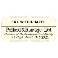 Ext. Witch Hazel Miniature Apothecary Label