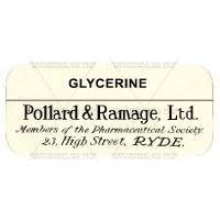 Glycerine Miniature Apothecary Label