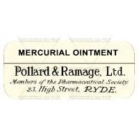 Mercurial Ointment Miniature Apothecary Label
