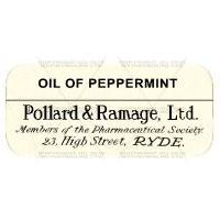 Oil Of Peppermint Miniature Apothecary Label
