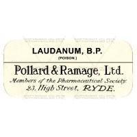 Laudanum B.P. Miniature Apothecary Label
