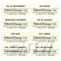 8 Dolls House Apothecary Labels - Bulk Jar Set SBB1