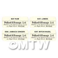 4 Dolls House Apothecary Labels - Bulk Jar Set SB2