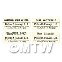4 Dolls House Apothecary Labels - Bulk Jar Set SB5