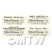 4 Dolls House Apothecary Labels - Bulk Jar Set SB6