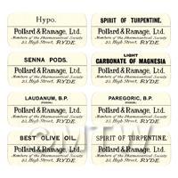 Dolls House Apothecary Labels - Bulk Jar Set SBB4