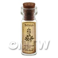 Dolls House Apothecary Wolfsbane Herb Short Sepia Label And Bottle