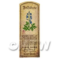 Dolls House Herbalist/Apothecary Wolfsbane Herb Long Colour Label