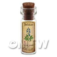 Dolls House Apothecary Wolfsbane Herb Short Colour Label And Bottle