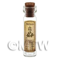 1/12th scale - Dolls House Apothecary Wolfsbane Herb Long Sepia Label And Bottle