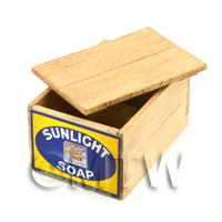 Dolls House Sunlight Soap Lidded Wood Shop Stock Box