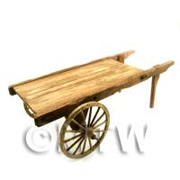 Dolls House Miniature Handmade Dark Aged Market Cart