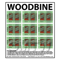 Dolls House Miniature sheet of 9 Woodbine Boxes