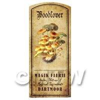 Dolls House Miniature Apothecary Woodlover Fungi Colour Label