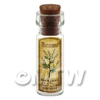Dolls House Apothecary Wormwood Herb Short Colour Label And Bottle