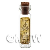 Dolls House Apothecary Wormwood Herb Long Sepia Label And Bottle