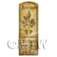 Dolls House Herbalist/Apothecary Wormwood Plant Herb Long Sepia Label