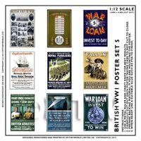 Dolls House Miniature World War One Set of 9 Posters - Set 5