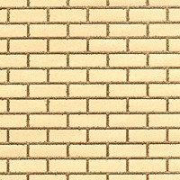 Handmade Yellow Brick With Buff Mortar Dolls House Cladding