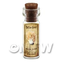 Dolls House Apothecary Yellow Coral Mushroom Bottle And Colour Label