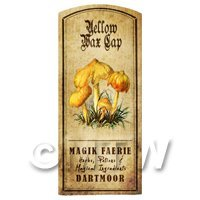 Dolls House Miniature Apothecary Yellow Wax Cap Fungi Colour Label