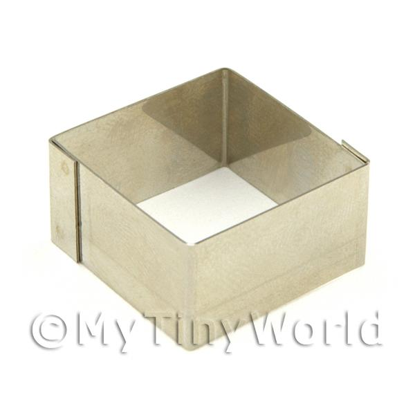Metal Square Shape Sugarcraft / Clay Cutter (22mm)