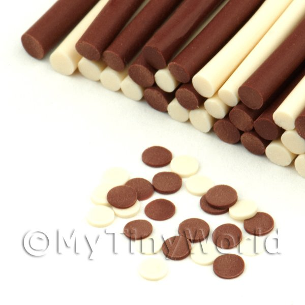 Milk And White Chocolate Buttons Nail Art Cane (FNC13)