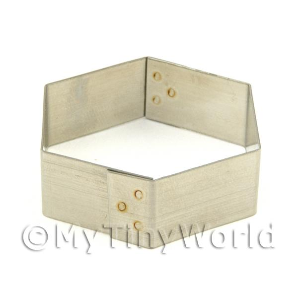 Dolls House Miniature  | Metal Hexagonal Shape Sugarcraft / Clay Cutter (32mm)