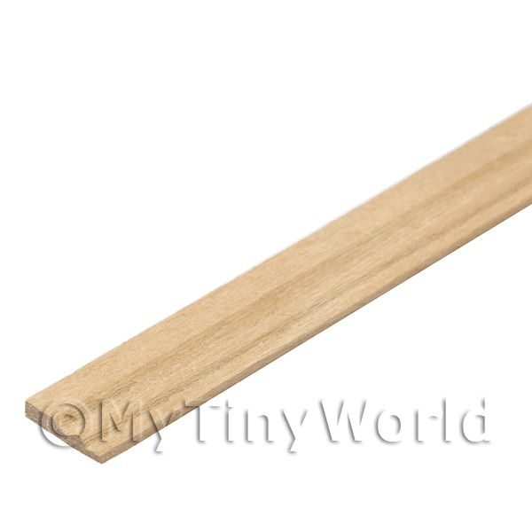 Dolls House Miniature  | Dolls House Miniature 9mm Wood Skirting Board (Style 1)