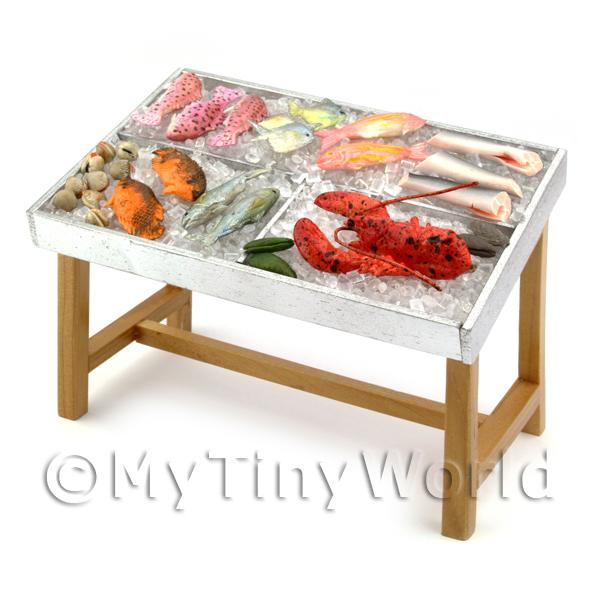 Dolls House 3 Compartment Stocked Fish Counter Style 3