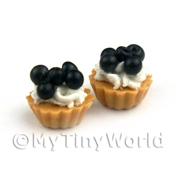 Dolls House Miniature Loose Handmade Black Cherry Tart