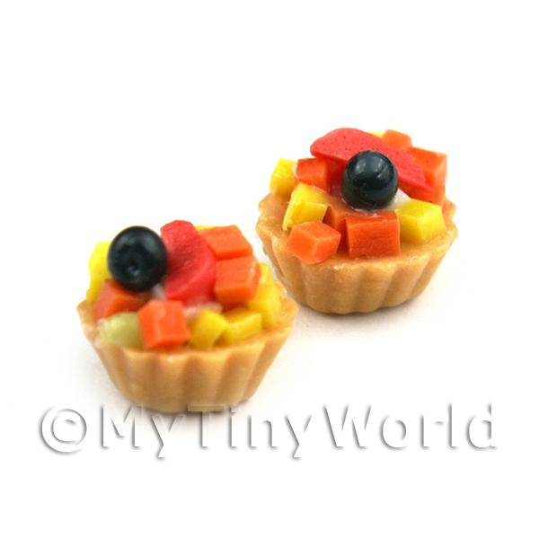 Dolls House Miniature Loose Handmade Tropical Fruit Tart
