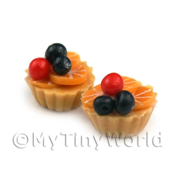 Dolls House Miniature Loose Handmade Black and Red Cherry Tart
