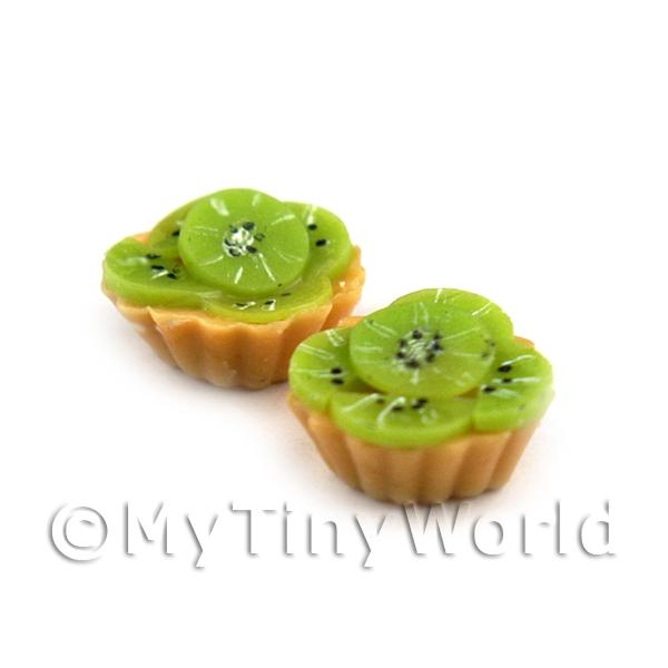 Dolls House Miniature Loose Handmade Sliced Kiwi Tart