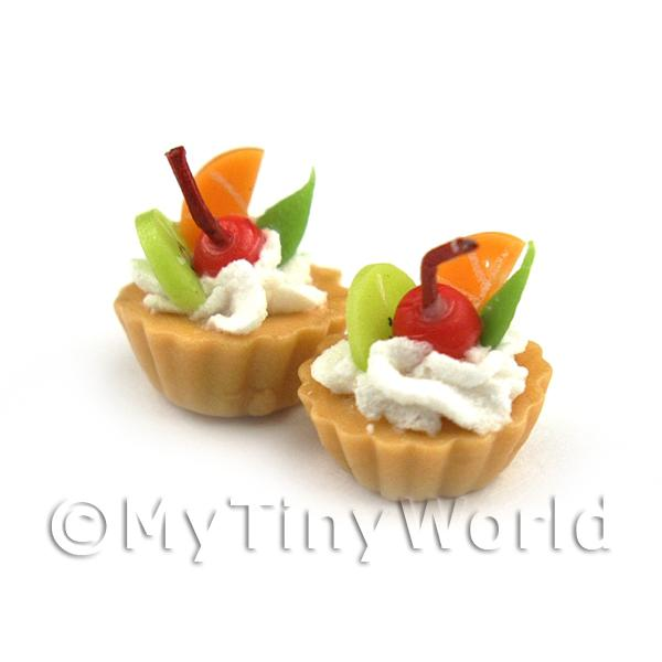 Dolls House Miniature Loose Handmade Mixed Fruit Tart