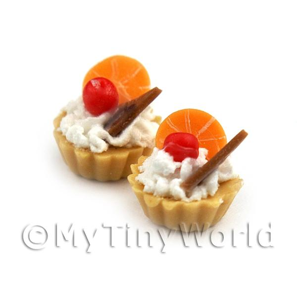 Dolls House Miniature Loose Handmade Chocolate Orange Tart